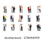 standing together people... | Shutterstock . vector #278496959