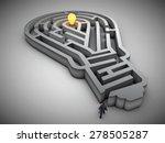 light bulb shaped maze with a...   Shutterstock . vector #278505287