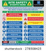 site safety starts here or site ... | Shutterstock .eps vector #278508425