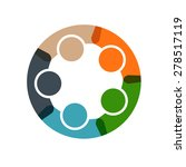 people business in a circle.... | Shutterstock .eps vector #278517119