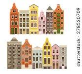 vector set of houses in the...   Shutterstock .eps vector #278530709