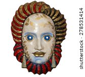 dell'arte theater mask isolated ... | Shutterstock . vector #278531414