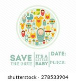 baby shower design over white... | Shutterstock .eps vector #278533904