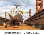 big ship   rear view with... | Shutterstock . vector #278536667