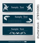 set of horizontal banners with...   Shutterstock .eps vector #278543081