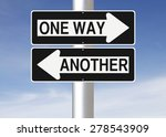 modified one way sign... | Shutterstock . vector #278543909