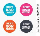 circle buttons. best mom and... | Shutterstock .eps vector #278550911