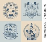 emblems on the theme boxing  ... | Shutterstock .eps vector #278558375