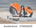 concrete saw tool equipment at...   Shutterstock . vector #278560205