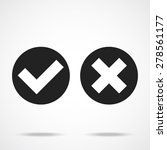 black and white check marks....