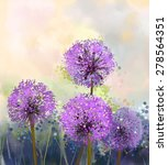 Oil Painting Purple Onion...