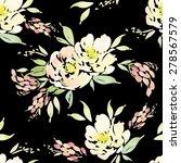 watercolor flowers. seamless...   Shutterstock .eps vector #278567579