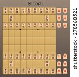 shogi is a two player board... | Shutterstock .eps vector #278568521