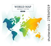 world map abstract full color... | Shutterstock .eps vector #278569319