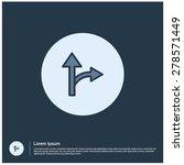 road direction arrow icon ...
