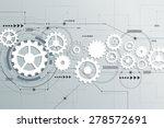 vector abstract futuristic  3d...   Shutterstock .eps vector #278572691