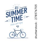 summer time typography poster... | Shutterstock .eps vector #278576705