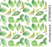 seamless pattern with leaves.... | Shutterstock . vector #278580401