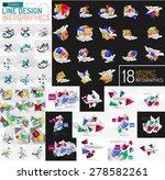 vector mega set of modern... | Shutterstock .eps vector #278582261