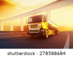 orange semi truck with oil... | Shutterstock . vector #278588684