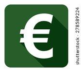 green euro currency flat long...