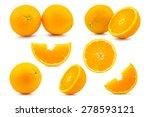 set orange isolated on white... | Shutterstock . vector #278593121