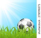 illustration soccer ball on...   Shutterstock . vector #278598371