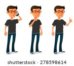 funny cartoon guy in various... | Shutterstock .eps vector #278598614
