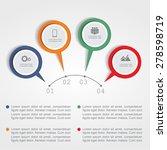 infographic design template.... | Shutterstock .eps vector #278598719