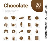 chocolate icons   Shutterstock .eps vector #278604881