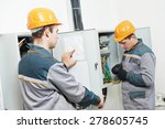 electrician builder engineer... | Shutterstock . vector #278605745