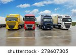 truck in warehouse   cargo... | Shutterstock . vector #278607305