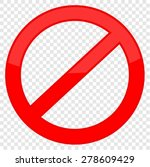 not allowed sign | Shutterstock .eps vector #278609429