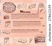 restaurant or cafe fast foods... | Shutterstock .eps vector #278612159