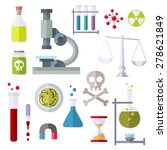 icons chemistry theme. objects...