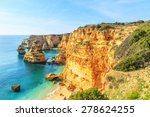 a view of a praia da rocha in... | Shutterstock . vector #278624255