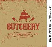 butchery label on grunge... | Shutterstock .eps vector #278627219