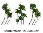 trees isolated collection | Shutterstock . vector #278631329
