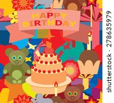 card for birthday greetings. | Shutterstock .eps vector #278635979
