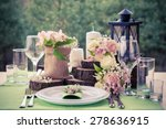 Wedding Table Setting In Rusti...