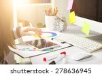 young woman graphic designer... | Shutterstock . vector #278636945