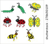 beetles good gay smile  ladybug ... | Shutterstock .eps vector #278650109