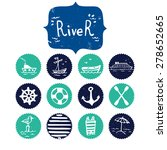 set of hand drawn river and... | Shutterstock .eps vector #278652665