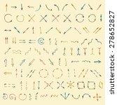 cartoon sketch arrow set. hand... | Shutterstock .eps vector #278652827