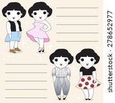 trendy and fashion girls paper... | Shutterstock .eps vector #278652977