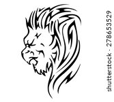 lion lion head abstract... | Shutterstock .eps vector #278653529