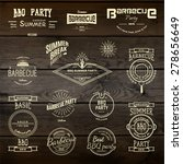 barbecue vector design elements ... | Shutterstock .eps vector #278656649
