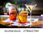 colorful cocktails on the bar... | Shutterstock . vector #278662784