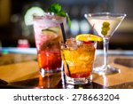 colorful cocktails on the bar... | Shutterstock . vector #278663204