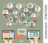 social media network concept...   Shutterstock .eps vector #278670281